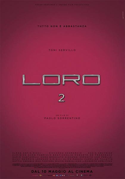 Domenica 15 luglio: LORO 2 di Paolo Sorrentino.